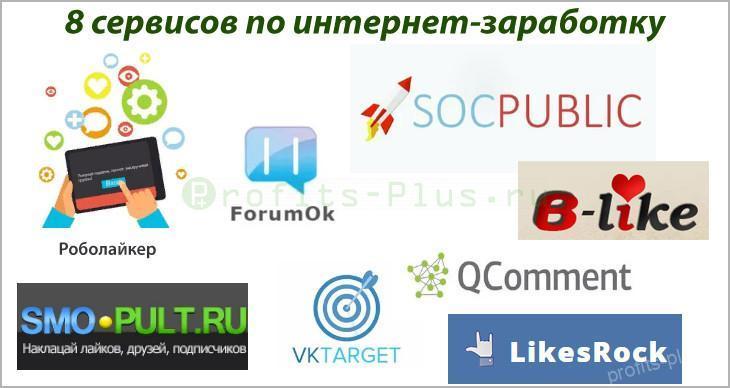 Сервисы для подработки в интернете через социальные сети
