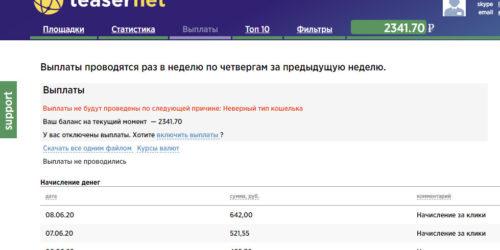 Как монетизировать сайт через teasernet.com