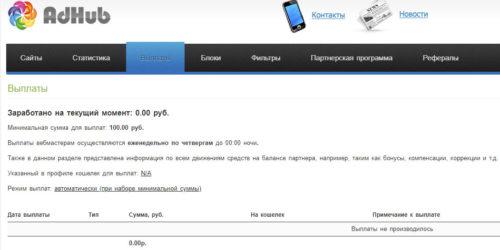 Как монетизировать сайт через adhub.ru