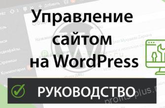 Пошаговая инструкция по управлению сайтом на WordPress